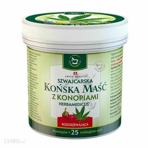 MASC KONSKA Swiss Warming Hemp Gel 250ml Strong Warming Gel
