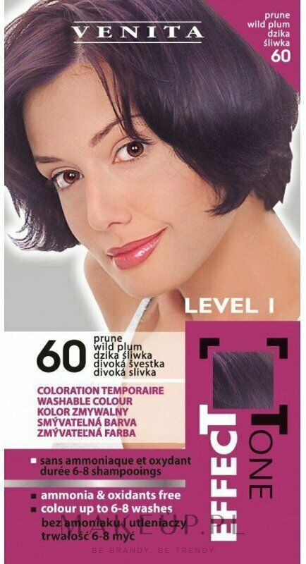 Venita Level 1 Effect Tone Color Shampoo - Washable hair dye