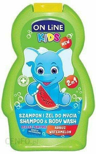 On Line Kids Shampoo 2W1 Watermelon 250ml Szampon 2W1 Arbuz