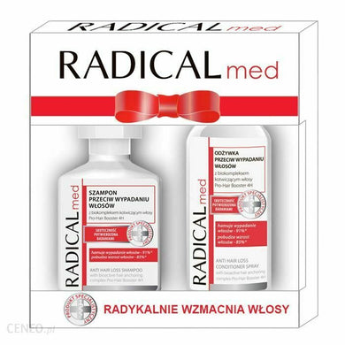 Radical Med Shampoo anti hair loss 300ml + conditioner 200ml Set for woman