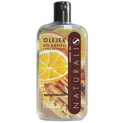 NATURALI Home SPA bath & shower oil Cinnamon & Orange 250ml olejek do kąpieli