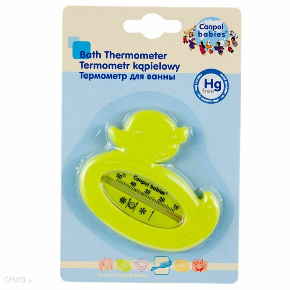 CANPOL BABIES TERMOMETR DO KAPIELI - ZÓLTA Floating Baby Bath Thermometer duck