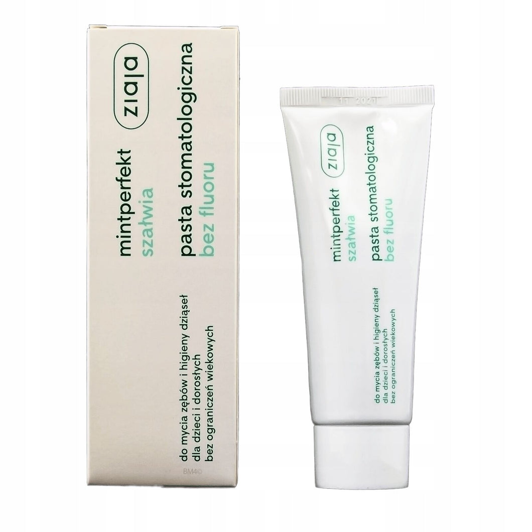 Ziaja Mintperfect Dental Toothpaste Sage Without Fluoride 75ml