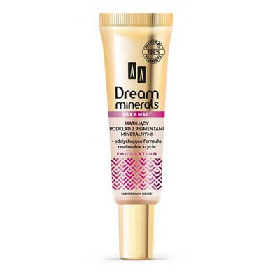AA Dream Minerals  Matting foundation with mineral pigments Matujacy podklad