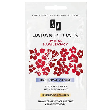 AA Japan Rituals  Cream face mask Moisturizing ritual maska do twarzy