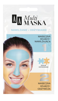 AA Multimask  Face mask Moisturizing + nourishing Maseczka do twarzy
