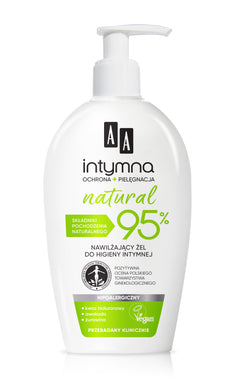 AA Intymna Natural 95%  Moisturizing gel for intimate hygiene zel do higieny