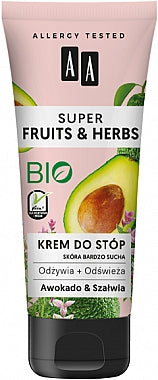 AA Cosmetics Super Fruits & Herbs  Avocado and Sage Foot Cream krem do stop