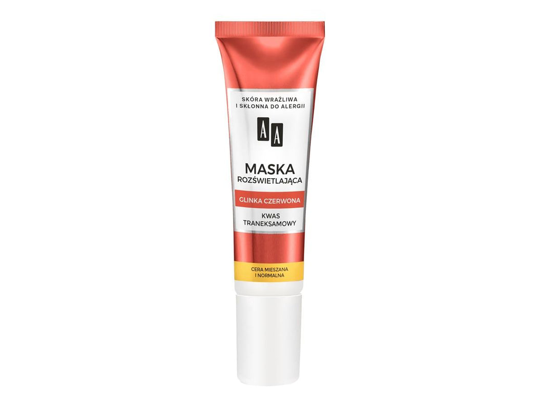 AA  Illuminating mask for normal skin Red clay & tranexamic acid maska do cery