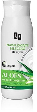 AA Vegan Shower Milk  for washing dry skin Aloe and plant milk mleczko do mycia