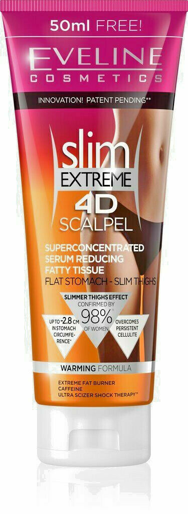 Eveline SLIM EXTREME 4D SCALPEL Serum ANTI-CELLULITE Fat BURNER Abdomen Thighs