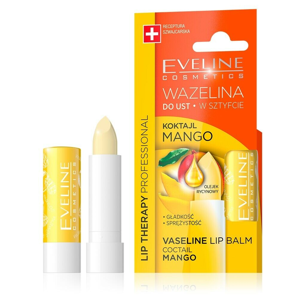 EVELINE LIP THERAPY MANGO COCKTAIL VASELINE LIP BALM LIPSTICK CARE & MOISTURIZER