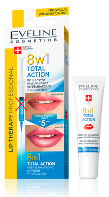 Eveline 8 IN 1 TOTAL ACTION LIP THERAPY PROFESSIONAL HIALURONOWY WYPELNIACZ UST