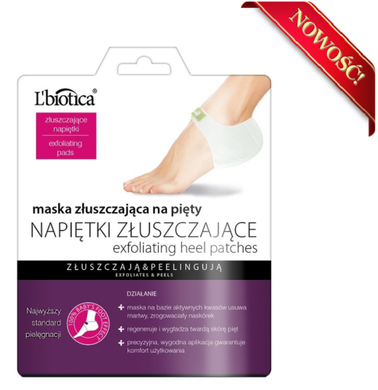 L'Biotica exfoliating mask for heels exfoliating liquors 18g