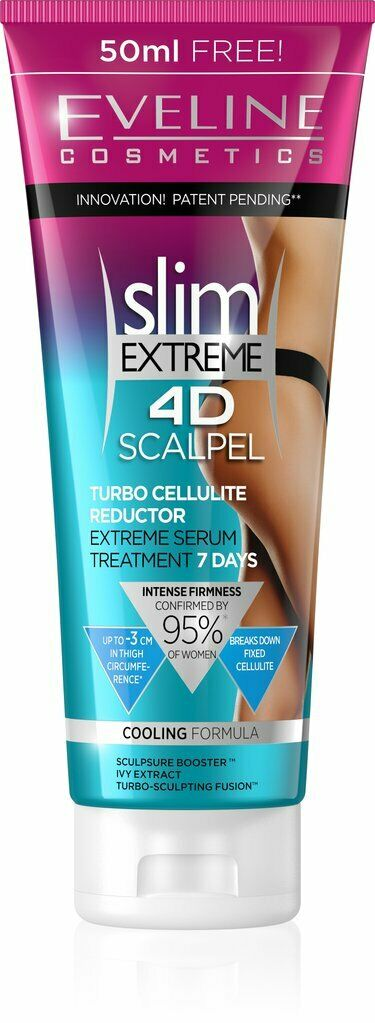 Eveline SLIM EXTREME 4D SCALPEL Turbo Cellulite Reductor Cream 7 DAYS TREATMENT