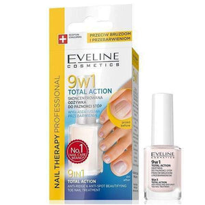 EVELINE NAIL THERAPY 9 IN 1 TOTAL ACTION TOE NAIL TREATMENT 12ML