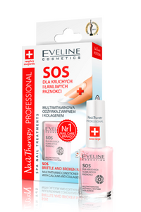 Eveline Nail Therapy Professional SOS BRITTLE & BROKEN NAILS AFTER HYBRID 12ml
