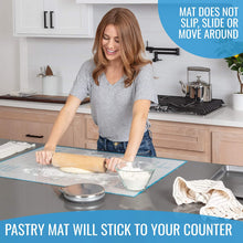 Load image into Gallery viewer, Silicone Pastry Mat (Extra Large Size: 23,5''(W)31,5''(L)) - KPKitchen
