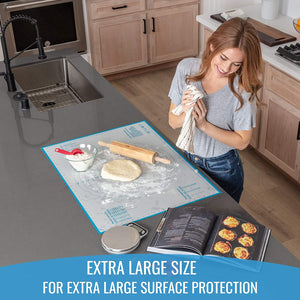 Silicone Pastry Mat (Extra Large Size: 23,5''(W)31,5''(L)) - KPKitchen