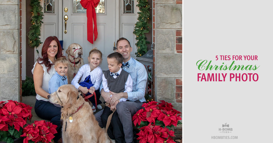 Christmas Card Photo Style Guide - Five Ties for Your Family Photo