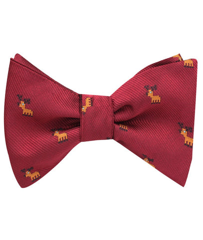 Red Reindeer holiday bow tie