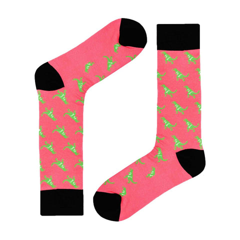 T-Rex dress socks, Pink