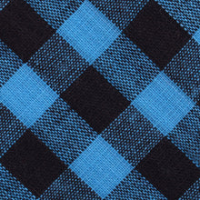 Load image into Gallery viewer, Approachable Scott - Blue and Black Cotton Self-Tied Bow Tie Fabric