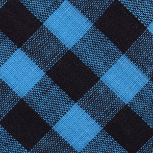 Approachable Scott - Blue and Black Cotton Self-Tied Bow Tie Fabric