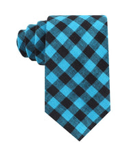Load image into Gallery viewer, Approachable Scott - Blue and Black Cotton Neck Tie front view