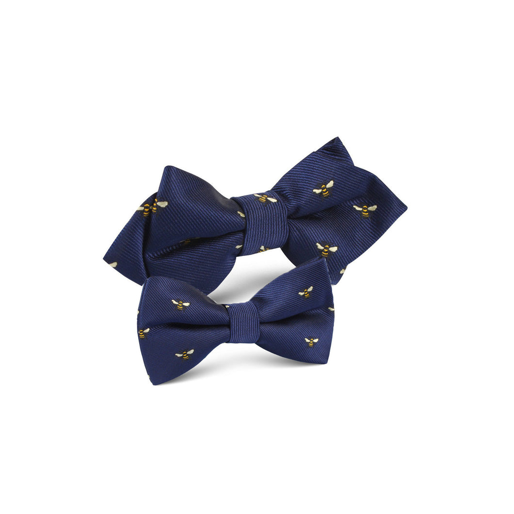 Matching father/son bow tie set with bees