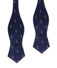Load image into Gallery viewer, Bees Bow Tie - Self-Tie Diamond-Point Bow Tie Untied