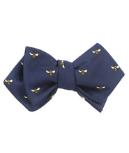 Load image into Gallery viewer, Bees Bow Tie - Self-Tie Diamond-Point Bow Tie