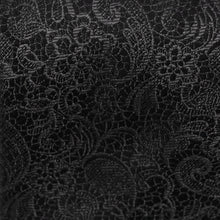 Load image into Gallery viewer, Black Tie Affair Fabric - Woven Silk Black and Paisley