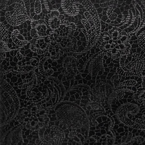 Black Tie Affair Fabric - Woven Silk Black and Paisley