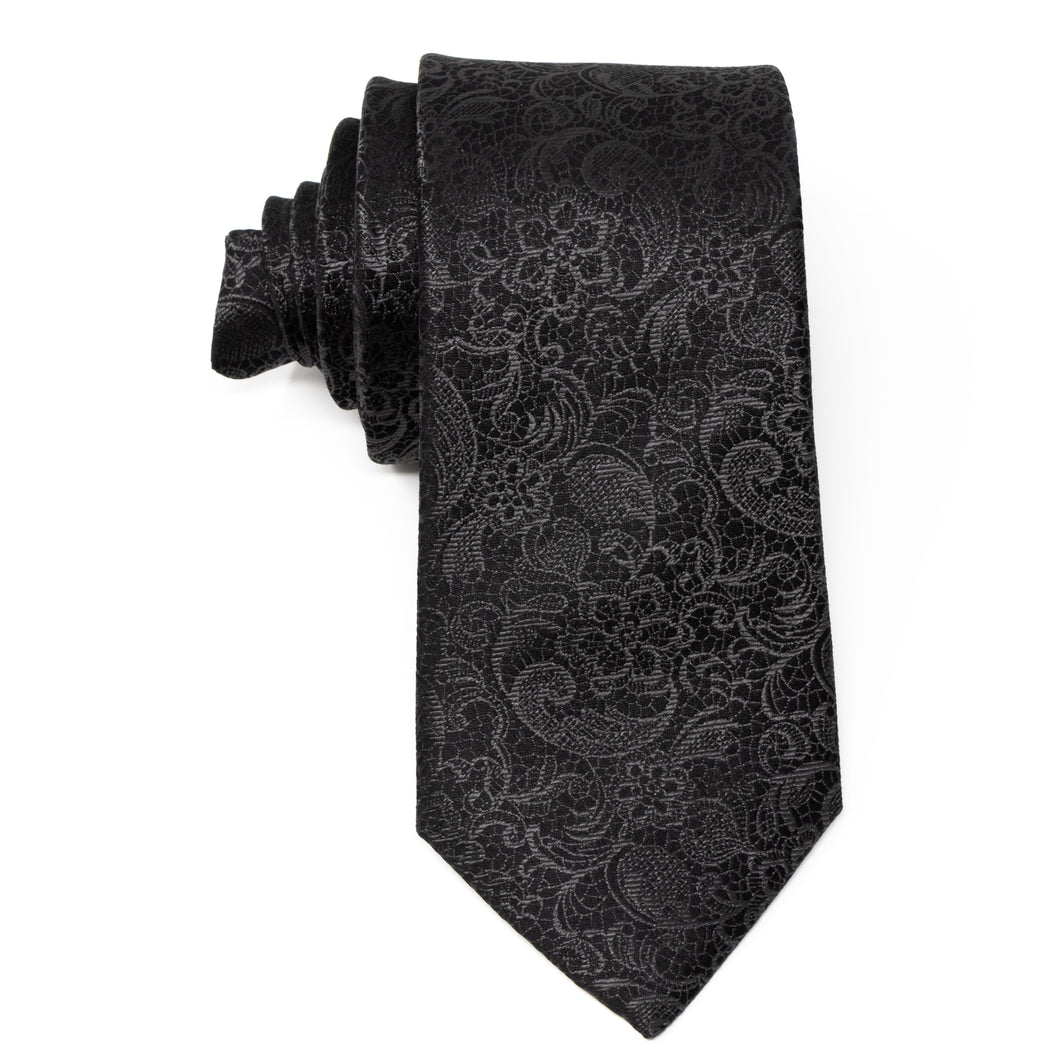 Black Tie Affair Silk Men's Neck Tie Top View