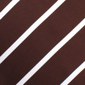 Brown and white striped untied bow tie fabric