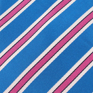 Cotton Candy - Blue and Pink Stripes Self-Tie Bow Tie Fabric