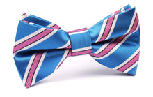 Load image into Gallery viewer, Cotton Candy - Blue and Pink Stripes Pre-Tied Bow Tie