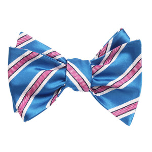 Cotton Candy - Blue and Pink Stripes Self-Tie Bow Tie