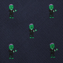 Load image into Gallery viewer, Frankenstein kids bow tie fabric
