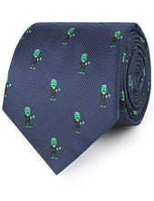 Load image into Gallery viewer, Frankenstein necktie rolled view