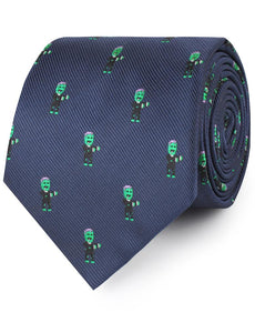 Frankenstein necktie rolled view