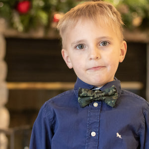 Camouflage bow tie for boys