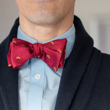 Load image into Gallery viewer, Red reindeer Christmas bow tie