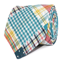Load image into Gallery viewer, Plaid/Gingham/Polka Dot Neck Tie Rolled View