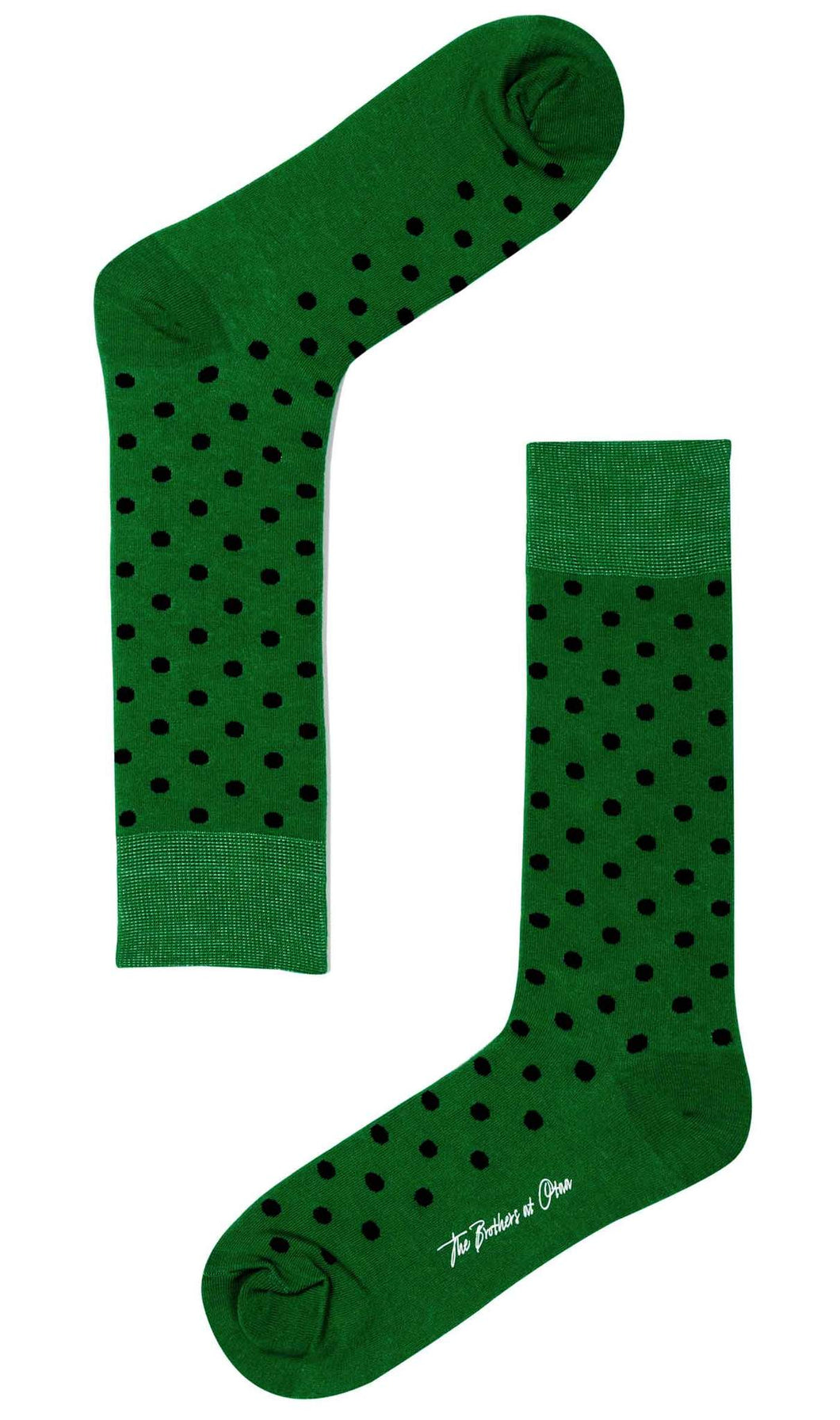 Lucky Green Socks green and black polka dot socks