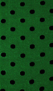 Lucky Green Socks green and black polka dot socks fabric