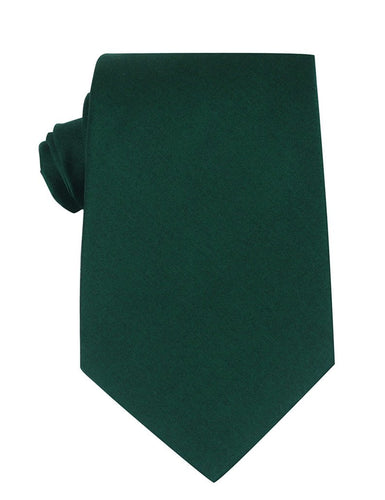 Solid green mens neck tie - top view