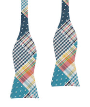 Load image into Gallery viewer, Plaid/Gingham/Polka Dot Bow Tie Untied