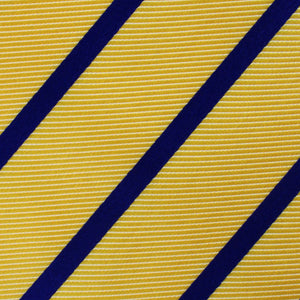 Yellow and Blue Stripes Neck Tie Fabric